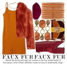 """WOW FACTOR: FAUX FUR"" by noraaaaaaaaa ❤ liked on Polyvore featuring Petar Petrov, Vita Fede, Tory Burch, Maison Margiela, Prada and fauxfur"