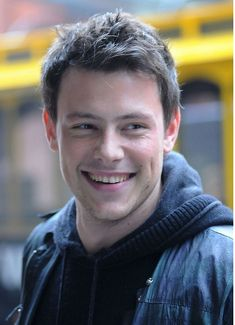 Cory Monteith...dimples.  Love.