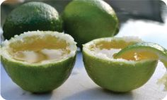Cinco de Mayo cocktail:  Margarita shots in a lime cup
