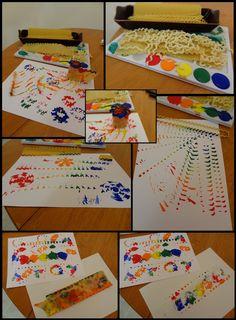 {Painting with Pasta!} Exploring Lasagna & Fusilli Noodles | MPM School Supplies Blog