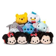 Tsum tsum collection  (Pooh, Donald, Eeyore, Stitch, Dumbo, Minnie, Mickey) Click the pin to toder today.
