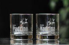 Godfather & Godmother Scotch Whiskey Glass by GodparentBaptismGift