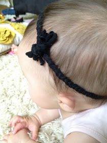 the little things we do: diy headband for babies or grownups.