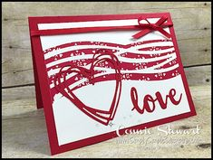 Make It Monday - Valentine Love Card - Simply Simple Stamping : Have you created a Valentine for your sweetheart yet? Today's MAKE IT MONDAY has you covered. Swirly Scribbles is one of my favorite thinlit die sets and check it out with the Se… Homemade Valentine Cards, Valentines Day Cards Handmade, Homemade Cards, Kids Valentines, Saint Valentine, Scrapbooking Diy, Scrapbook Cards, Making Greeting Cards, Greeting Cards Handmade