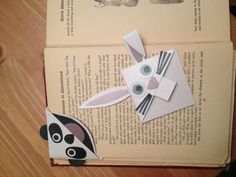 Animal bookmarks! I used the monster bookmark patterns and just tweaked it!