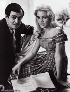 Kubrick & Sue Lyon. Script in the middle. On the set. Lolita. '62.