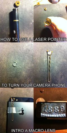 How to Use a Laser Pointer to Turn Your Camera Phone into a Macro Lens {Photo Tutorial Only}