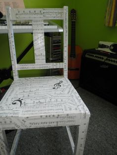 A chair for the music room!