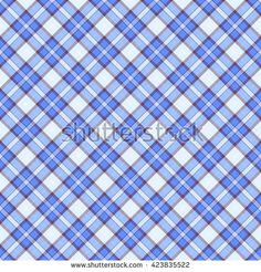 Seamless wall-paper plaid, blue. A classical pattern with rhombuses, a bright print for fabric, greeting cards, packing paper. Basis for design.
