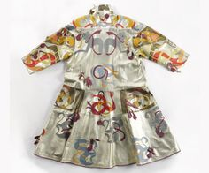 Fong Leng. Patchwork leather coat. Late 1970s, early 1980s.  The Hague Gemeentemuseum.  Known for her extravagant outfits and catwalk shows, Fong-Leng Tsang (Rotterdam, 1937) caused a stir on the Dutch fashion scene in the 1970sFong-Leng, who was self-taught, created garments with organic forms and decorative elements with materials such as leather, satin, silk and techniques such as appliqué and plissé.  In 1982 Fong-Leng closed her doors to apply herself to interior design and art.