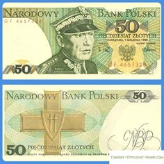 1974 series Polish banknote, featuring general Karol Świerczewski and the coat of arms of Poland on the obverse side, and the Order of the Cross of Grunwald on the reverse side. Online Writing Jobs, Online Jobs, How To Get Money, Make Money Online, Earn Money, Money Worksheets, Puerto Rico History, Money Notes, Historical Photos