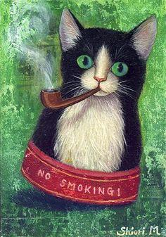 Shiori Matsumoto - Smoking cat, 1998