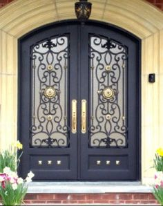 My House Will Have Beautiful Front Doors Wrought Iron Entrance