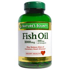 """Nature's Bounty Fish Oil 1200 mg contains EPA and DHA, two omega-3 fatty acids that help support and maintain the health of your cardiovascular system, plus naturally-occurring omega-6 fatty acid Omega-3 and 6 fatty acids are considered """"good"""" fats important for cellular, heart and metabolic health* Omega-3 fatty acids also help maintain triglyceride levels already within a normal range* Purified to eliminate mercury No artificial color, flavor or sweetener Fish Oil, Good Fats, Omega 3, Metabolism, Mercury, Range, Heart, Color"""
