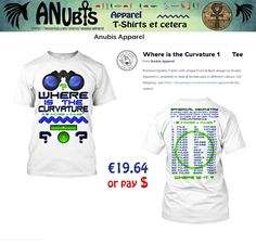 Another Awesomely cool NEW #FlatEarth Premium Quality #Tshirt with unique Anubis Apparel(c) front & back designs. Design Requests welcome at Facebook.com/AnubisApparel  #flatearth #globelie #cool #fashion #truth #trending #viral #world #curvature #maths #water #level #horizon #sphere #binoculars