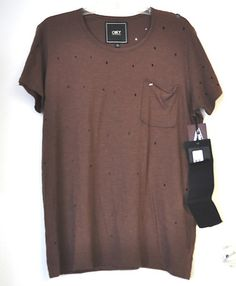 Obey Propaganda T Shirt Size M Oversized Destroyed Top Brown 100 Cotton Med | eBay