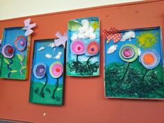 More ideas for spring crafts, using cake cases. Spring Crafts For Kids, Art For Kids, Art Projects, Projects To Try, Spring Art, Flowering Trees, Recycled Art, Recycling, Elementary Art