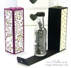 Stampin' Up! Demonstrator Pootles - Hinged Floral Bottle Box Tutorial using…