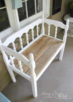 Old Wood Projects Diy Headboards 32 Ideas For 2019 Cheap Diy Headboard, Headboard Benches, Diy Headboards, Recycled Furniture, Furniture Projects, Furniture Makeover, Furniture Design, Wood Furniture, Wood Projects