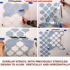 Wall pattern stencil - Tuscan Trellis stencil - Cutting Edge Stencils