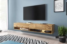 Selsey Wander 1800 TV Stand for TVs up to 90 inch - Oak Tv Wall Mount Bracket, Wall Mounted Tv, Tv Board Holz, Armoire Tv, Hanging Tv, Plasma Tv Stands, Led Tv Stand, Console Styling, Led Light Kits