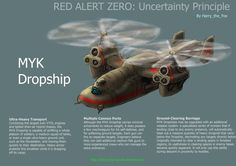 Another Red Alert Zero concept- the Soviet MYK Dropship! (MYK being an amalgamation of the major real-life Soviet Aircraft manufacturer brands, Mil, Yakolev and Kamov- as a joint project). Increasi...