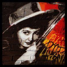 Calamity Jane #modern #western #streetart #graffiti #barcelona #22arroba #gun #woman