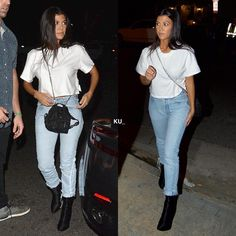 Kourtney arriving at Hillsong Church in Los Angeles on Wednesday.