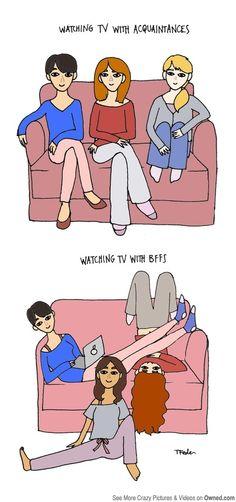 How college girls watch TV -