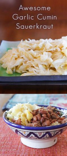 A delicious recipe alternative to your everyday sauerkraut. This simple spice combination makes a lovely garlic cumin sauerkraut. Fermented Sauerkraut, Sauerkraut Recipes, Fermented Foods, Spice Combinations, Fermentation Recipes, Vegetarian Cabbage, Thing 1, Garlic Recipes, Recipe Collection