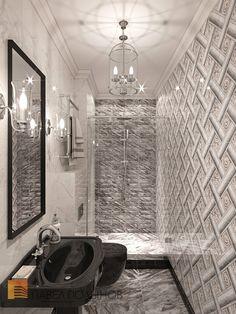 Фото санузел из проекта «Дизайн трехкомнатной квартиры 100 кв.м. в стиле неоклассики, ЖК «Смольный парк»»