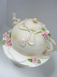 Let Them Eat Cakes: Tea Pot Shower Cake
