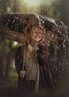 She definitely 'gets' the rain.