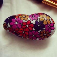 Handpainted stone magnets