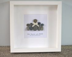 Framed Pebble Art 'You Rock' Glass Art Pictures, Pebble Pictures, Mum Birthday Gift, Unique Birthday Gifts, Frame Crafts, Craft Frames, Art Crafts, Pebble Art Family, Rock Painting Patterns