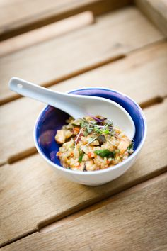 Stones Events Seafood Risotto Bowl Food.