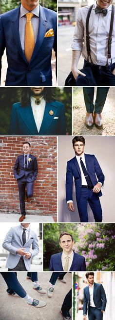 True Blue.A modern day alternative to the traditional black suit, we've noticed that many grooms are now opting for a suit or three-piece in this super flattering shade.