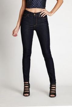 1981 High-Rise Skinny Jeans with Silicone Rinse   GUESS.com