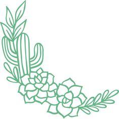 Silhouette Design Store: Cactus Border - Hochzeit freebies + diy - Best Picture For cactus For Your Taste You are looking for something, and it is going to tell you - Silhouette Design, Silhouette Cameo, Cactus Silhouette, Cricut Craft Room, Cricut Vinyl, Cactus Decor, Cricut Tutorials, Cricut Ideas, Cricut Creations