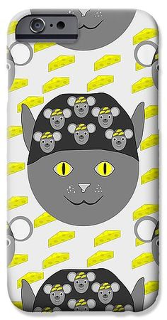 Cat, mouse and cheese IPhone Case for Sale by Sverre Andreas Fekjan Iphone 6 Cases, Iphone 4, Cat Mouse, Kids Rugs, Cheese, Cats, Prints, Gatos, Kid Friendly Rugs