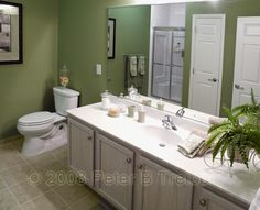 Spa Like Feel In The Guest Bathroom The Fresh Green Color