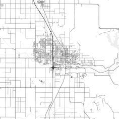 Spokane Valley Washington Area Map Dark Ui ux