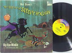Walt Disney's The Legend of Sleepy Hollow and Rip Van Winkle LP #Vinyl Record