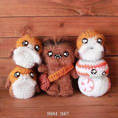 Free Shipping-Star Wars Porg Star Wars inspired crochet doll