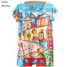 Летняя Коллекция футболок 2 015 Женщины Топы короткие Russain одежду