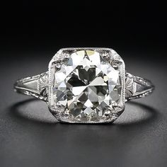 3.26 Carat Antique Diamond Engagement Ring - 10-1-5279 - Lang Antiques