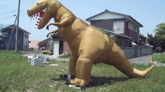 ABI-tech 恐竜シューティング/ティラノサウルス(黄土色)②