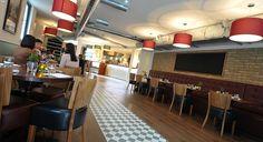 Victorian style tiled floor restaurant Gostoso