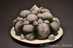 Kivikasa-geokätkö -kakku Geocaching, Artichoke, Vegetables, Birthday Ideas, Rocks, Food, Artichokes, Essen, Vegetable Recipes