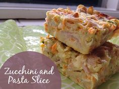 Zucchini and Pasta Slice – A healthy recipe perfect For Lunch Boxes! Easy Lunch Boxes, Lunch Box Recipes, Baby Food Recipes, Cooking Recipes, Lunch Snacks, Healthy Food Blogs, Healthy Snacks For Kids, Healthy Recipes, Healthy Cooking